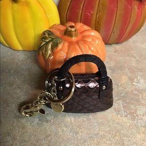 BNWOT a Brahmin purse keychain.